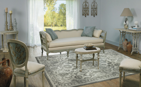 Victorian Styled Room with Karastan area rug