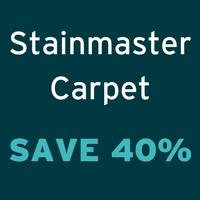 Save 40% off Stainmaster Carpet