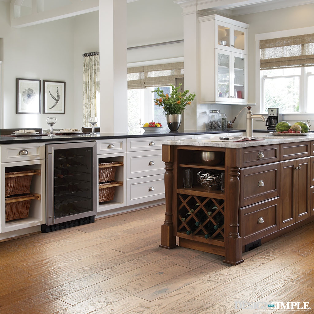 Rustic Hardwood Kitchen Floor from Carpet One