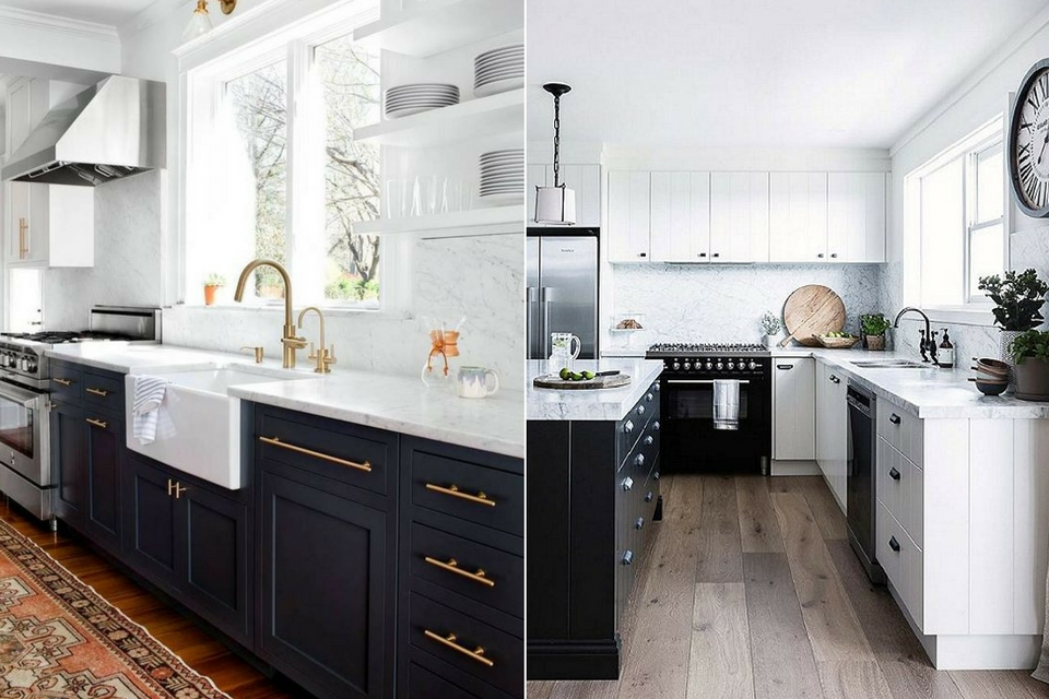 Interior Design Trends 2017, Black and White Kitchens, Tuxedo Kitchens