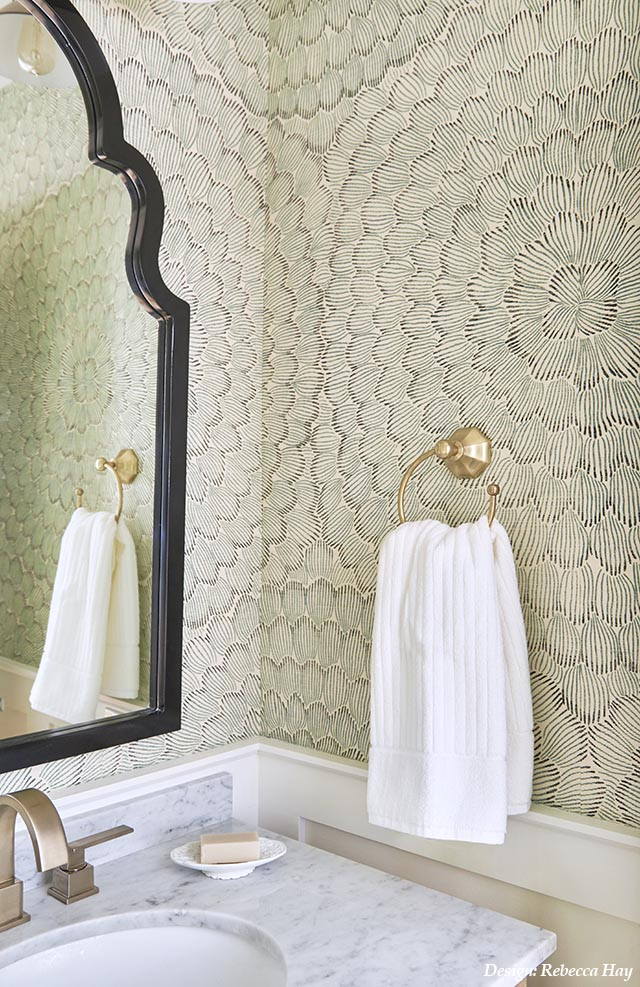 Small Bathroom Design, Rebecca Hay Design, Green Bathroom, Jewel Box Bathroom