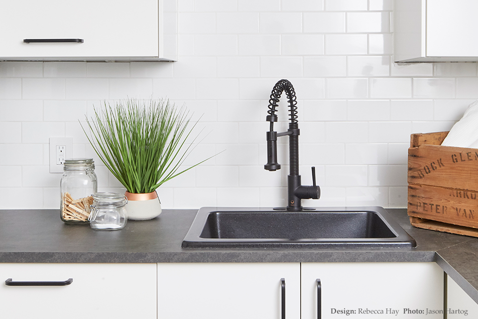 Black kitchen faucet