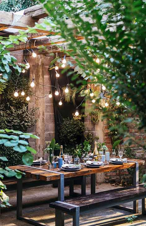 Outdoor Home Design, Patio Lights