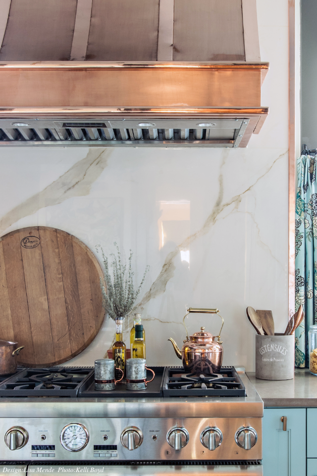 Copper Range Hood | Southern Kitchen Design | Lisa Mende Design