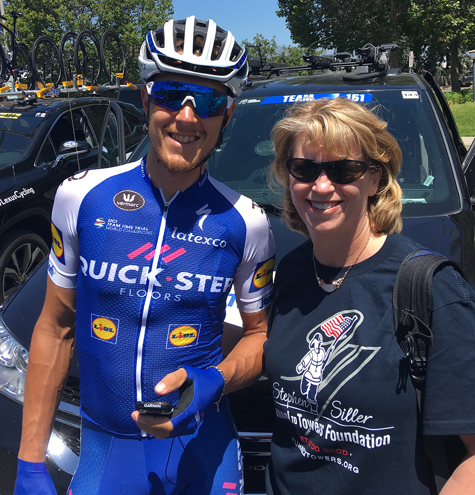 Quick Step Pro Cycling Team and Julie Kerkochian