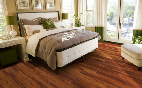 luxury vinyl plank in bedroom