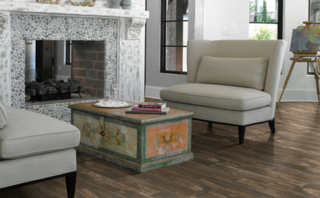 Bel Terra Wood look Tile in Living Room