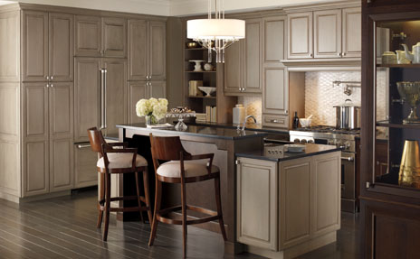 Omega Neutral Cabinets in kitchen