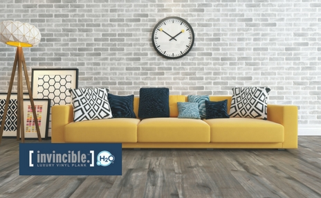 Invincible H2O vinyl plank flooring