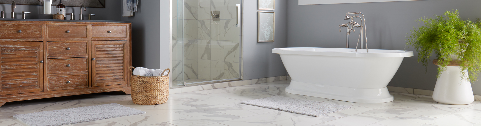 bel terra tile flooring in bathroom