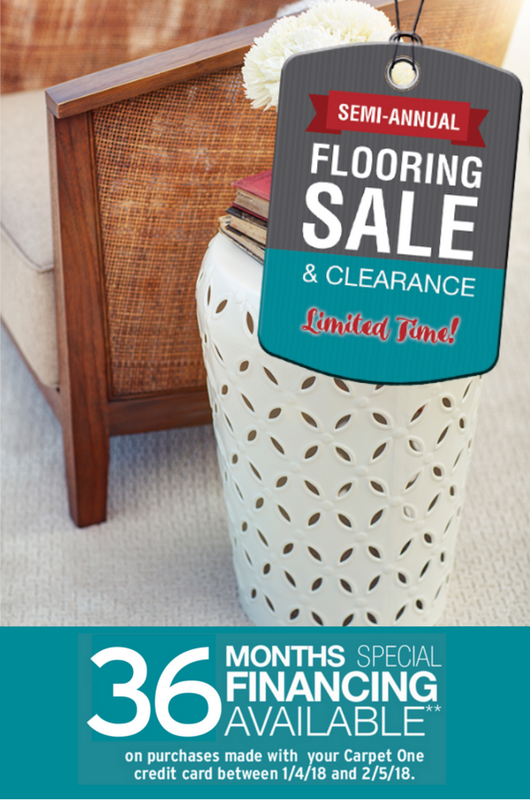 semi annual flooring sale and 36 mo financing option