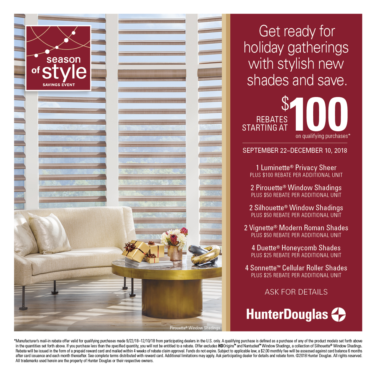 Hunter Douglas sale