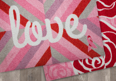 Pink Ribbon Welcome Mats