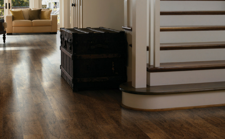 laminate for life flooring in hall and stairs